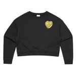 CIB Crew Flip You Women's Crop Crewneck Sweatshirt
