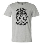9 Lives T-Shirt on Gray