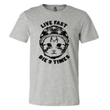 9 Lives T-Shirt on Gray (Wholesale)