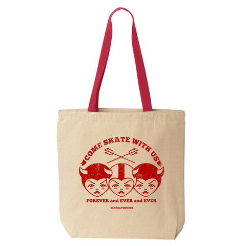 Come Skate With Us Tote Bag (Wholesale)