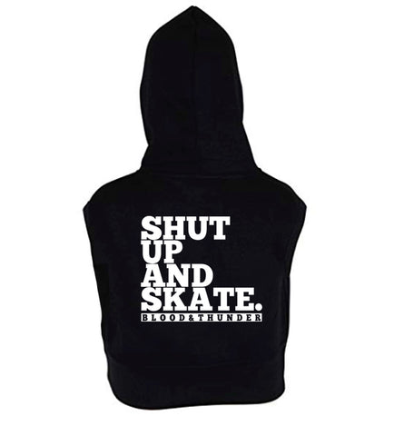 Shut Up and Skate Women's Sleeveless Hoodie