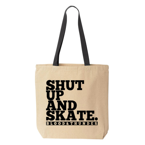 Shut Up and Skate Tote Bag
