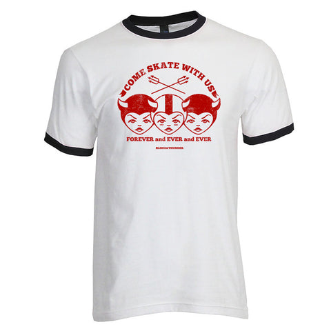 Come Skate With Us Ringer Shirt (Wholesale)