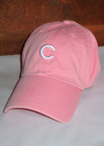 "Women's Chicago Cubs Pink with White ""C"" Logo"