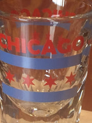 Chicago Flag Jumbo Shot Glass