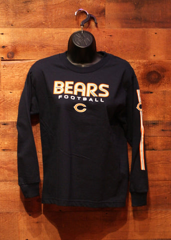 Youth Long Sleeve T-Shirt Chicago Bears Navy