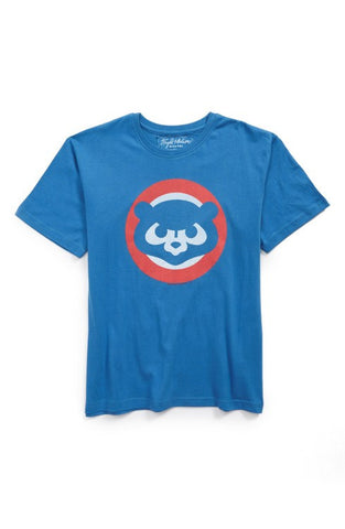 Chicago Cubs blue fitted T shirt, vintage Cub
