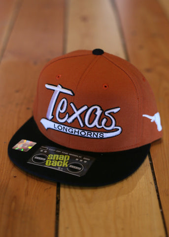 Texas longhorn snap back orange black bill