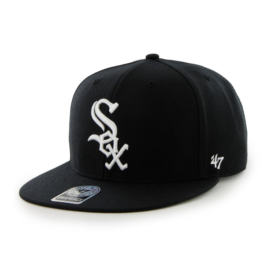 Hat White Sox FlatSnap Black B47