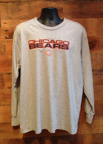 Men's Long Sleeve T-Shirt Chicago Bears Grey