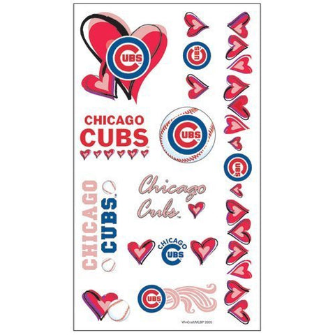 Chicago Cubs Temporary Tattoo Sheet