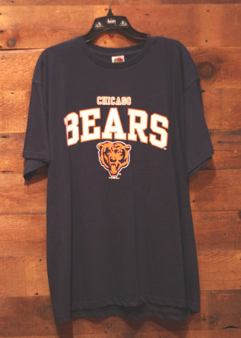 Men's T-Shirt Chicago Bears Navy with Orange Bear and Writing on Front, Hester #23 on Back