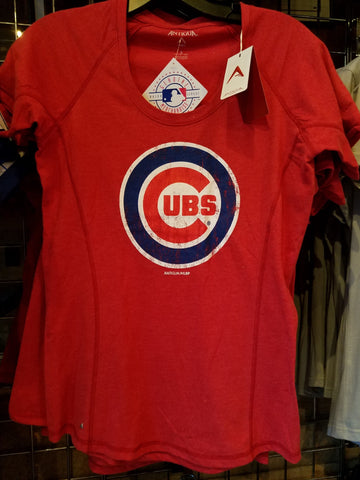 Chicago Cubs Red Bullseye Logo Tee