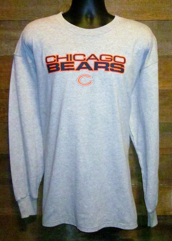 Men's Long Sleeve T-Shirt Chicago Bears C Grey NFL