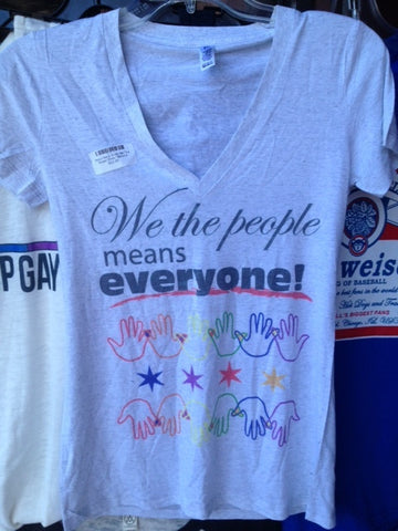 Pride V-Neck Shirts We The People White