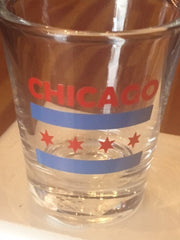 Chicago Flag Clear Shot Glass