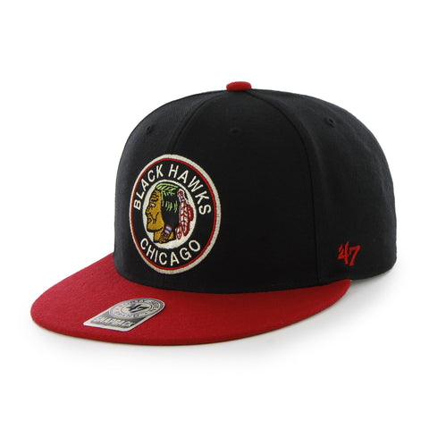 Hat Blackhawks FlatSnap Black B47