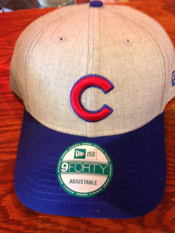 Chicago Cubs hat grey and blue w red C