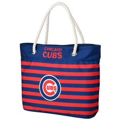 Chicago Cubs Nautical Stripe Tote