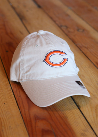 Hat Men's Chicago Bears Cream with Orange C Logo
