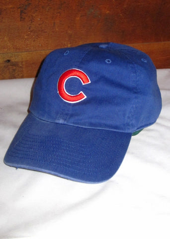 "Chicago Cubs Blue with Red ""C"" Logo and Crawl Logo on Back"