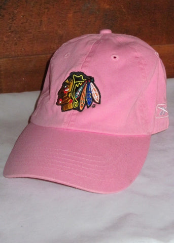 Hat Women's Blackhawks Pink with Native Head Logo