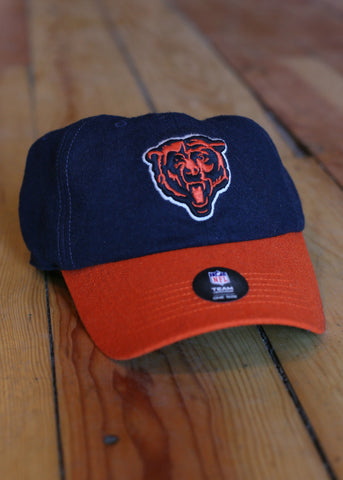 Hat Men's Chicago Bears Navy with Orange Brim and Logo