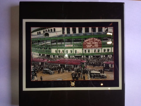 Chicago Cubs Wrigley Field Vintage Picture