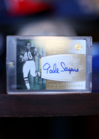 Signed Trading Card Gale Sayers #40 Ultimate Inscriptions 13/25