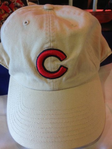 Chicago Cubs Tan Hat Red Adjustable