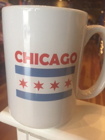 Chicago Flag Grande white Mug