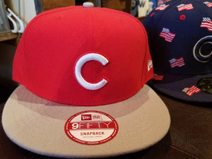 Chicago Cubs Red New Era Snap Back