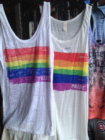Pride Tank Top with Rainbow Flag