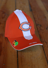 Hat Men's Chicago Bears Orange and White with Logo