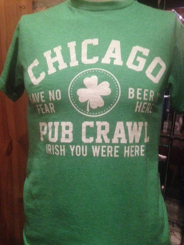 Green Chicago Pub Crawl T shirt