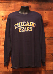 Men's Long Sleeve Shirt Chicago Bears Navy