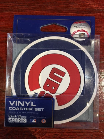 Chicago Cubs 4 Pack Vinyl Coasters