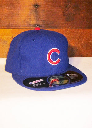 "Chicago Cubs Blue with Red ""C"" Logo and Flat Bill"
