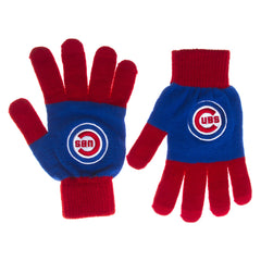 Chicago Cubs Knit Colorblock Gloves