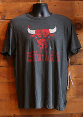 Men's T-Shirt Chicago Bulls Grey with Logo