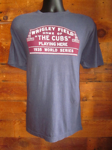 Men's T-Shirt Wrigley Field Grey Wright and Ditson