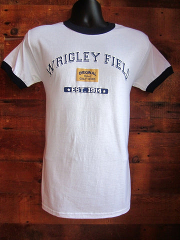 Men's T-Shirt Chicago Cubs Wrigley Field 1914 white sw