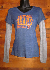 Women's Long Sleeve T-Shirt Chicago Bears FB bluegrey touch