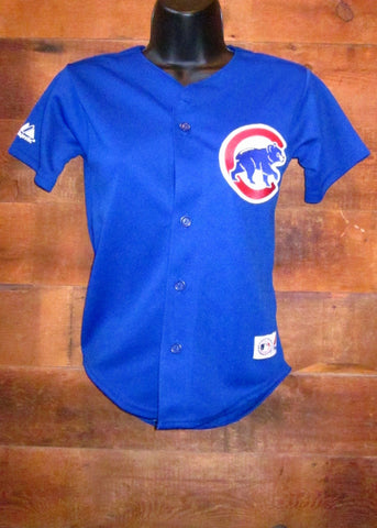 Women's Jersey Chicago Cubs Plain Blue Majestic