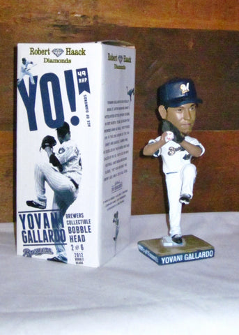 "Milwaukee Brewers Yovani Gallardo ""Ace of Diamonds"" Bobblehead"