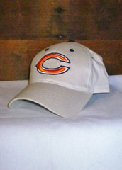 "Hat Bears Tan with Orange ""C"" and Navy Blue"