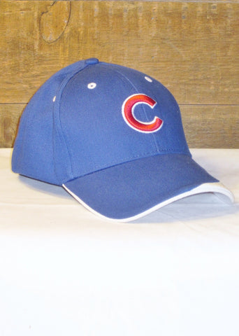 "Chicago Cubs Blue with Red ""C"" Logo and ""Chicago Cubs"" on Bill"