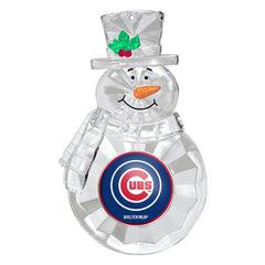 Chicago Cubs Traditional Snowman Ornament