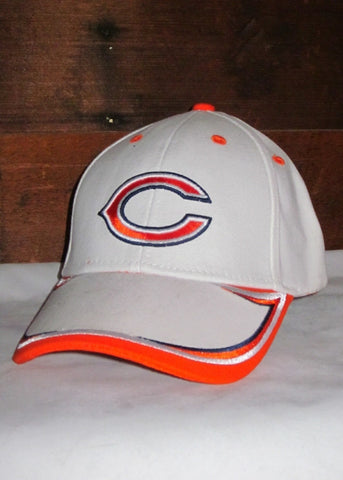 "Hat Bears White with Orange Accents and Orange ""C"" Logo"
