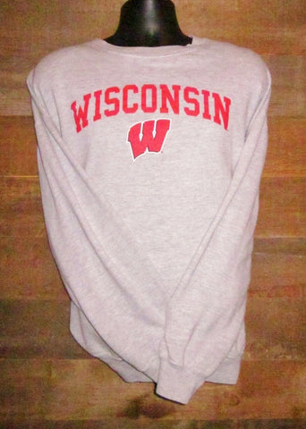 Youth Grey Wisconsin Sweatshirts